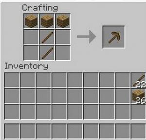 Как сделать деревянную кирку в майнкрафте