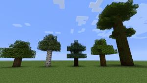Деревья майнкрафт