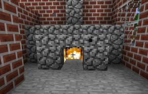 Камин в один камень в майнкрафт