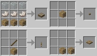 Мод Карпентерс Блокс для Майнкрафт крафт: Датчик света, кнопка, рычаг, нажимная пластина