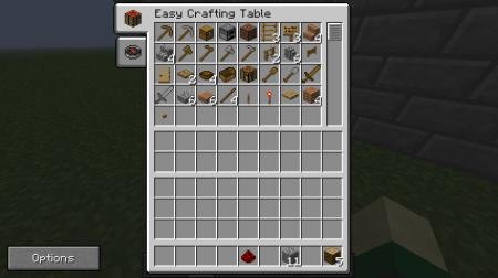 Мод Easy Crafting для Minecraft внутреннее меню верстака