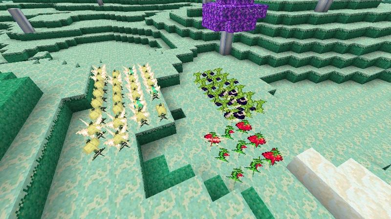 Мод The Ether для Minecraft фрукты