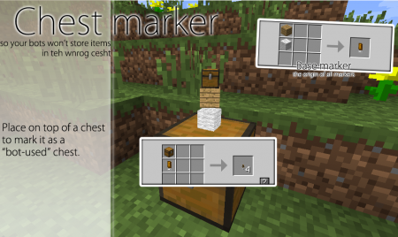 Мод Cubebots для Майнкрафт: Маркер