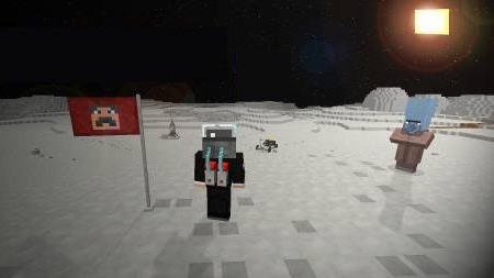 поверхность луны в galacticraft