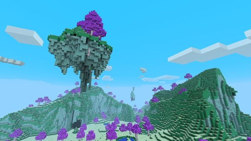 Мод The Ether для Minecraft пейзаж Рая