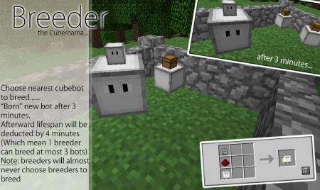 Мод Cubebots для Майнкрафт: крафт Breeder (Размножитель)