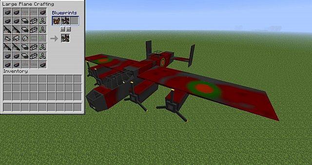 самолет в flans mod