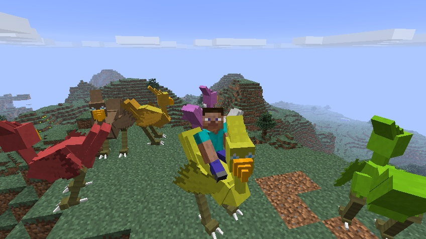 Верхом на большом страусе