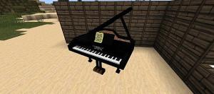 Фортепиано майнкрафт