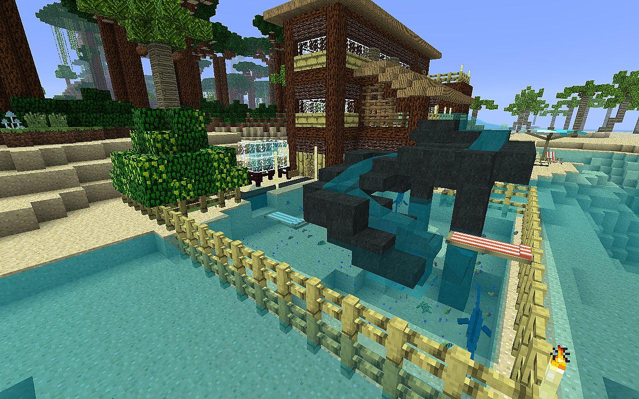 Мод Для Майнкрафт Tropicraft: домик на берегу