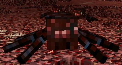 Natura mod для Майнкрафт 1.5.2 и 1.6.4 - маленький адский паук