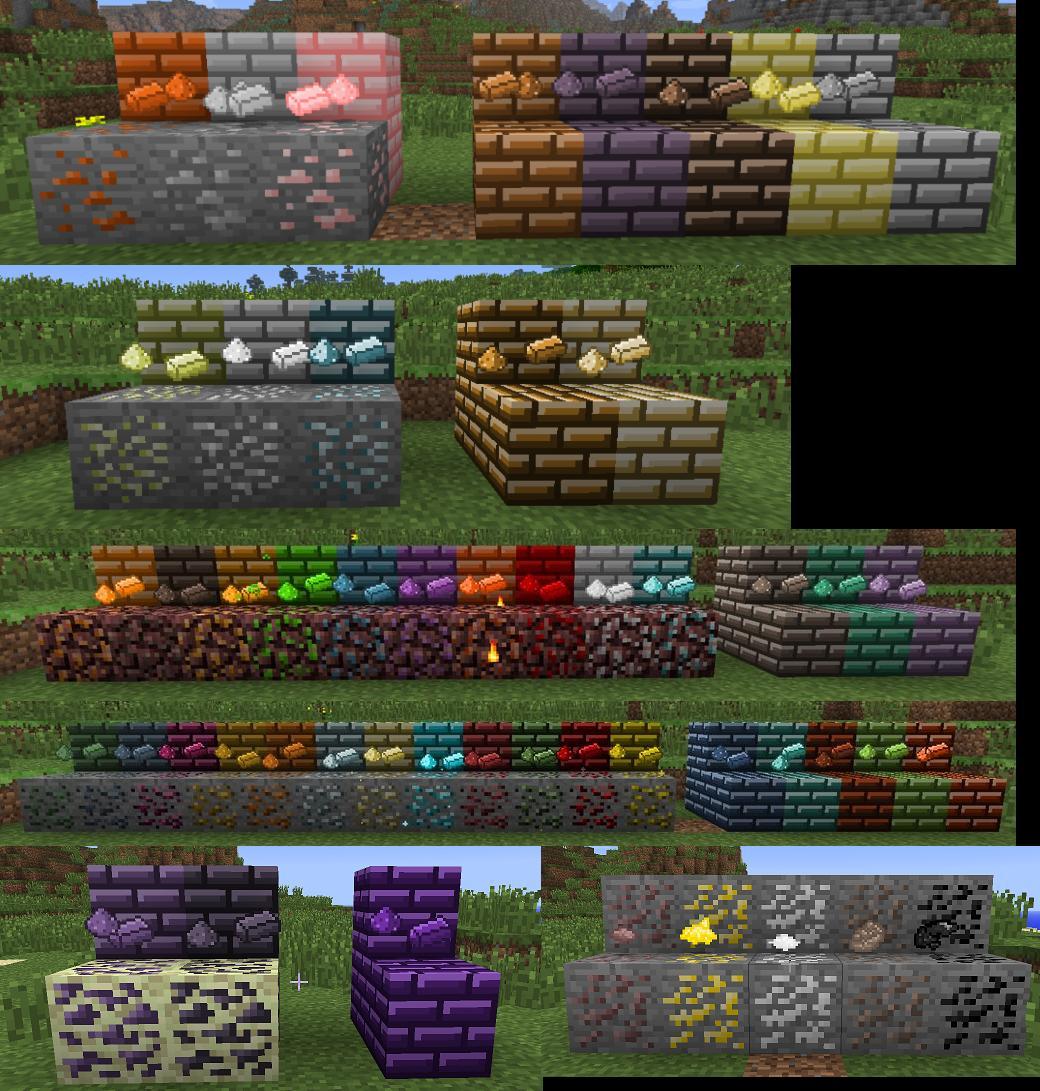 Мод для Майнкрафт 1.7.2 Metallurgy mod 2: руды