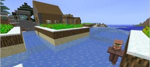 Деревня майнкрафт на воде