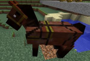 седло для лошади в майнкрафт