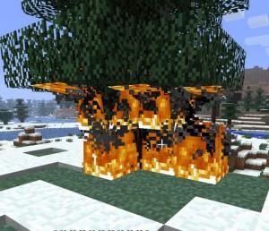 Огонь в майнрафте