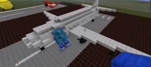 Самолёт в майнкрафт