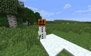 Снеговик в майнкрафт