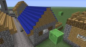Синяя крыша майнкарфт