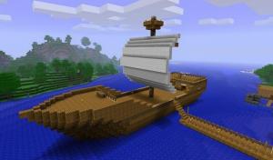 Парус корабля в майнкрафт
