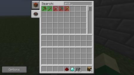 Мод Easy Crafting для Minecraft со встроенным поисковиком