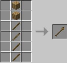 Мод Extended Workbench для Майнкрафт: крафт деревянных инструментов