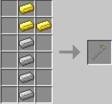 Мод Extended Workbench для Майнкрафт: крафт золотых инструментов