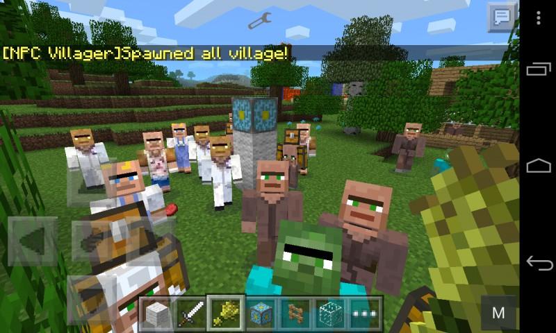 Деревня в Майнкрафт ПЕ 0.9.1