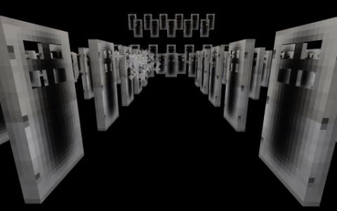 Мод для Майнкрафт Dimensional Doors: ну ведь правда похоже на ту сцену из фильма?