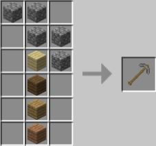 Мод Extended Workbench для Майнкрафт: крафт инструментов из булыжника