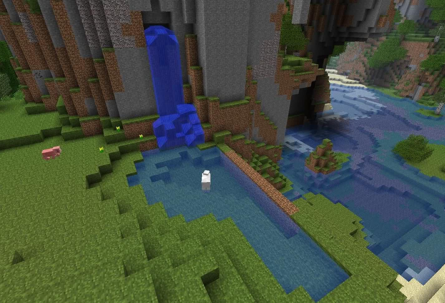 Мод для Майнкрафт FiniteLiquid: Водопад