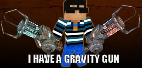 Мод для Майнкрафт The Gravity Gun: - У меня есть Гравипушка!