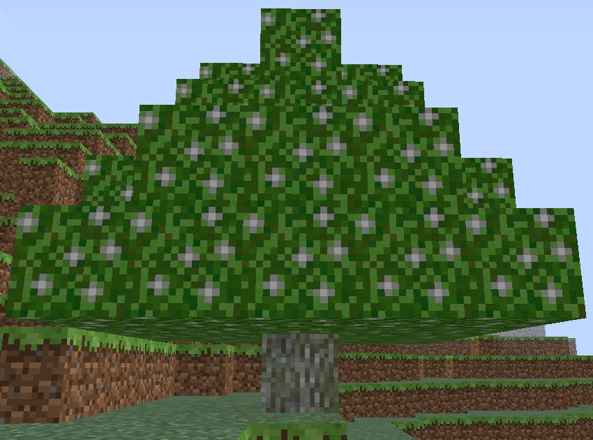Natura mod для Майнкрафт 1.5.2 и 1.6.4 - серебряное дерево