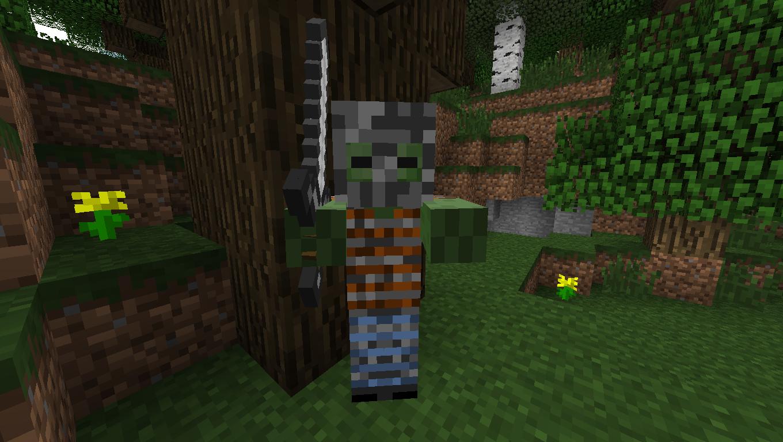 Мод для Майнкрафт Mo' Zombies: Зомби Рыцарь