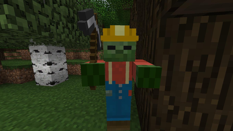 Мод для Майнкрафт Mo' Zombies: Зомби Шахтер
