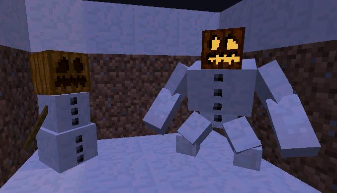 Мод для Майнкрафт Mutant Creatures: Снежный Голем Мутант